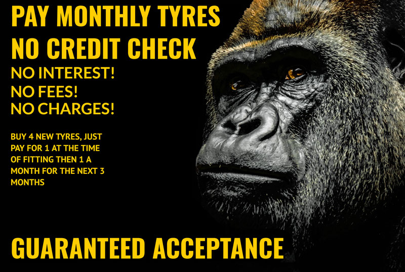 gorilla tyres pay monthly offer